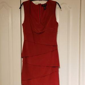 Red holiday dress, White House black market size 8